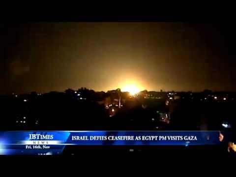 Israel defies Ceasefire as Egypt PM visits Gaza