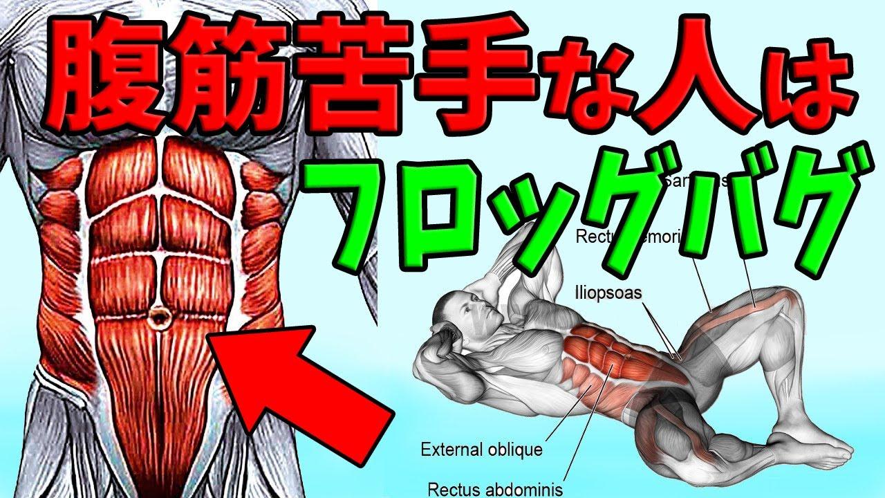 【たった20秒】お腹を凹ませたい人が1番にするのは腹筋よりフロッグバグ!