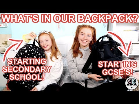 What's In Our Backpacks? Back To School 2019 *Year 7 & 10 Secondary School! | Ruby and Raylee