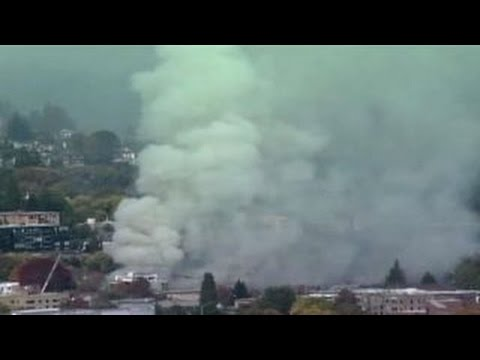 Firefighters respond to gas explosion in Portland, Oregon