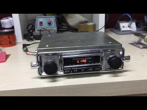 Auto-radio antigo fusca MP3 Bluetooth