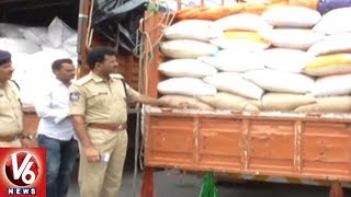 Gudur Police Arrested Illegal Ration Rice Mafia | Seized 250 Quintal Rice | V6 News