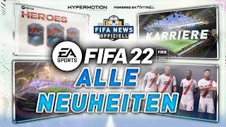 Alle FIFA22 NEUHEITEN ● Create a Club, Spielerkarriere, FUT, VOLTA, ProClubs & Gameplay Revolution