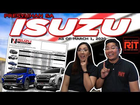 Isuzu Pricelist Philippines 2020 : Presyo ng mga Isuzu sa Pilipinas