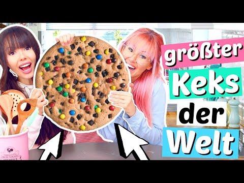 2 Irre machen den größten Keks der Welt 😱 XL DIY | ViktoriaSarina