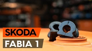 How to replace Sway bar bushes on SKODA FABIA Combi (6Y5) - video tutorial
