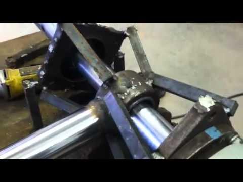 Line boring rotobec cylinder ends