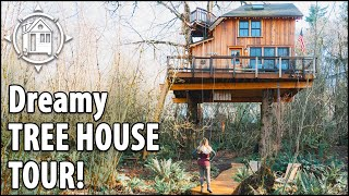 You Can Rent This Tree House  + Zipline To Ewok Village !