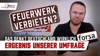 Verbot von Silvesterfeuerwerk - Was Deutschland wirklich denkt * Das Umfrageergebnis bei forsa.