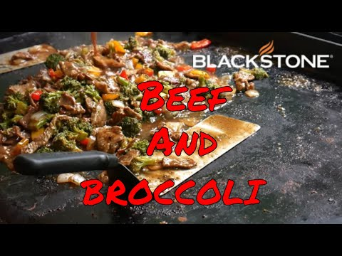 Simple Beef and Broccoli Chinese on the Blackstone Griddle