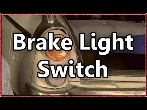 How To Install A Mechanical Brake Light Switch In A Classic Car Youtube