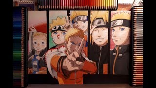 The Evolution of Naruto Uzumaki - speed drawing