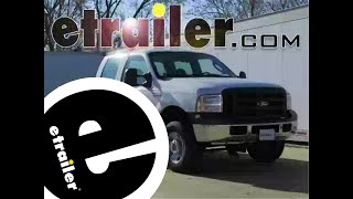 Installation of a Gooseneck Trailer Hitch on a 2007 Ford F-250 Super Duty - etrailer.com