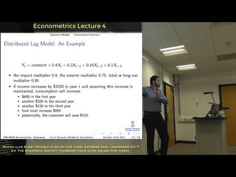 Lecture 4: Dynamic Models and Stationarity in time series data