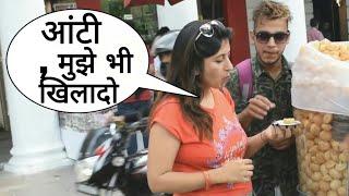 EATING GIRL'S PANI PURI PRANK By Desi Boy   Prank In India   Epic Reactions Part - 2