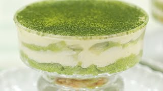 Green Tea Tiramisu Recipe (Irresistible Matcha Italian Cake with NO Heavy Cream) | Cooking with Dog