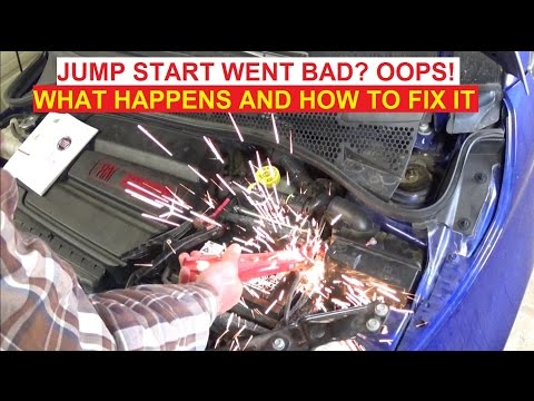 What happens when you Jump Start your car the WRONG WAY!