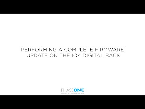 Support | Performing a complete firmware update of the Phase One IQ4 | Phase One