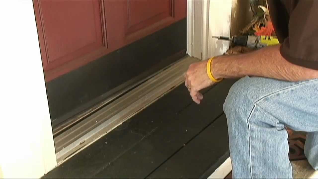 How to weather strip doors using a doorsweep youtube for Door weather stripping