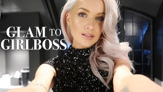 CHRISTMAS PARTY OUTFIT TO GIRL BOSS MODE | VLOGMAS 67