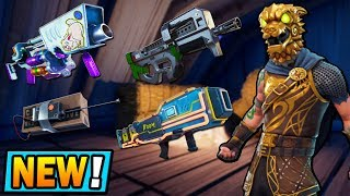 NEW LEGENDARY SKINS for FREE and LEAKED WEAPONS in FORTNITE! (P90, Egg Launcher, SCAR 2.0 & MORE)