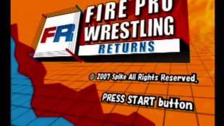 Fire Pro Wrestling Returns: Title Screen & Intro