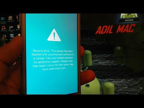 Fix this phone has been flashed with unauthorized software Samsung J2 Prime