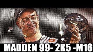 PEYTON MANNING THROUGH THE YEARS - MADDEN 99 - ESPN NFL 2K5 - MADDEN 16