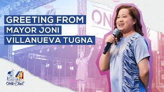 Greeting from Mayor Joni Villanueva Tugna   JIL Church 41st Anniversary