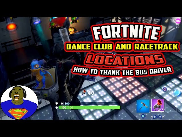 SEARCH CHEST OR AMMO BOXES AT A RACETRACK OR A DANCE CLUB - FORTNITE OVERTIME CHALLENGES