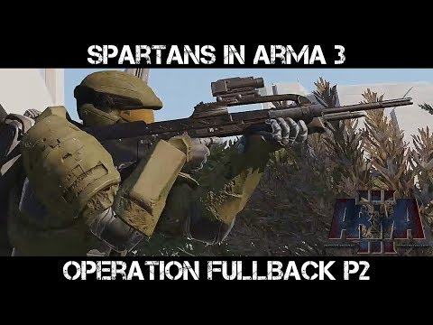 Operation Fullback part 2 - Halo in ArmA 3 - UNSC Spartans with Marine Support