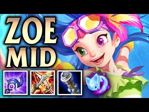 Zoe's One Shot Splash Bash! Pool Party Zoe Mid - League of Legends S8