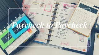 Paycheck to Paycheck: Budget With Me - Happy Planner #budgetwithme