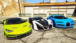 En Hızlı Araç Yarışması - Şimşek Mcqueen Dinoco King Mater (GTA 5 Hikaye Modu)
