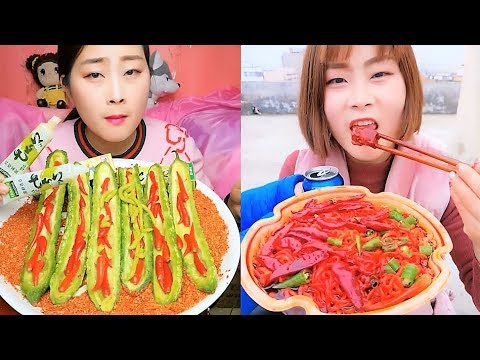Eating Show Challenge Hot Spicy Foods| Brave Girl China *Warnings Do Not Play This is Video *