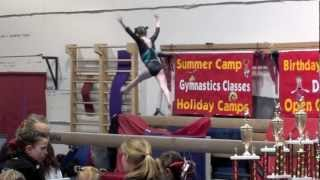 7 Year Old Gymnast Takes Hard Fall on Beam