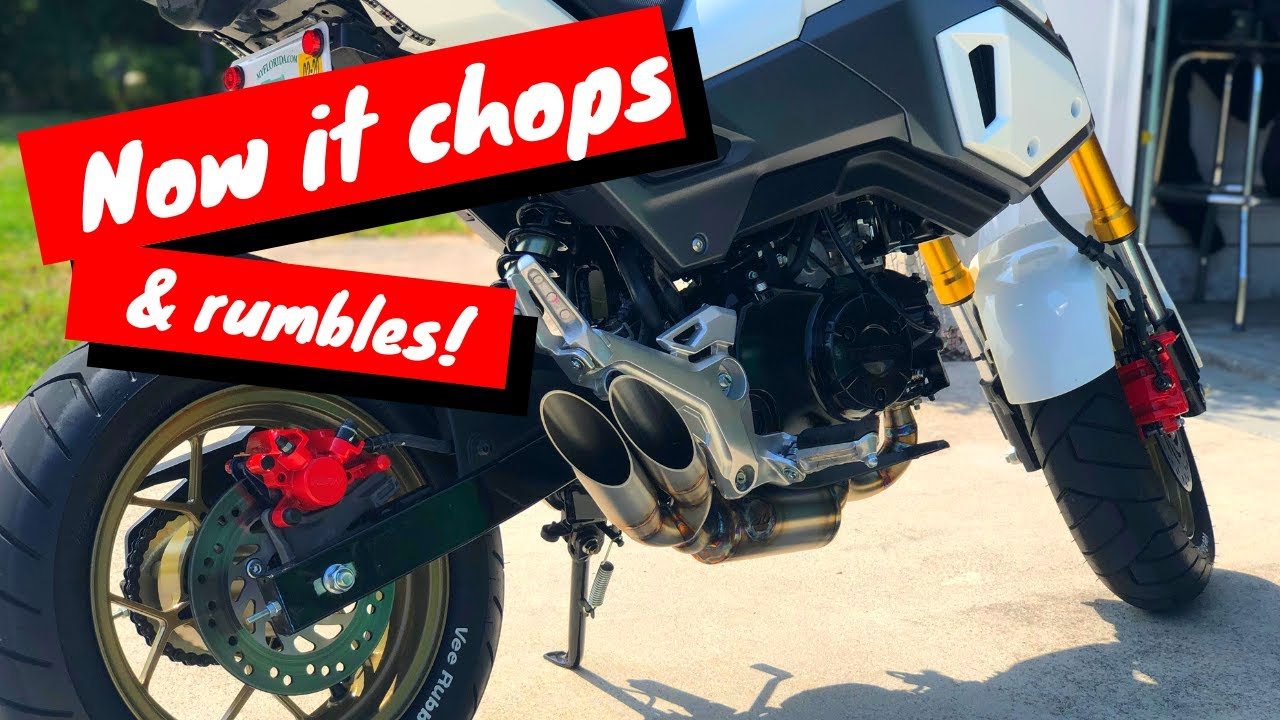 Repeat Grom Dinger Built Exhaust With TB Cam Idling and