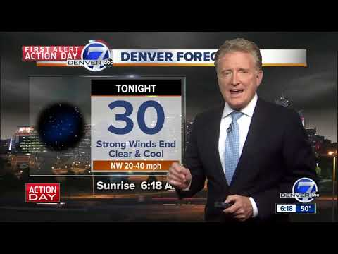 Wild winds whip Denver and much of Colorado