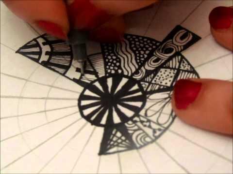 January 3 Zentangle (8x8 Project)