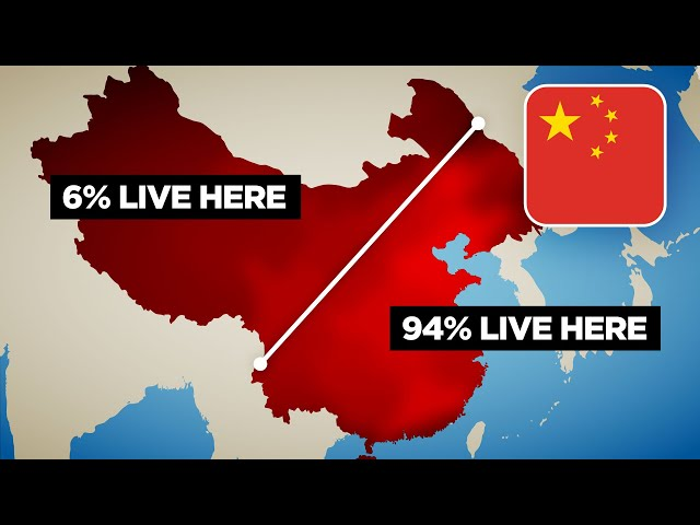 Why 94% of China Lives East of This Line