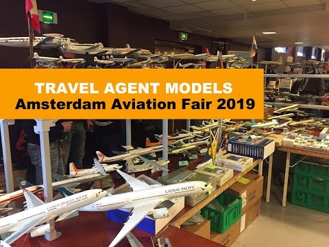 AMSTERDAM AVIATION FAIR 2019 | AIRLINE DISPLAY MODELS EXTRAVAGANZA