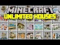 Minecraft INSTANT HOUSES MOD! | INSTANTLY SPAWN GIANT HOUSES, SPAWNERS, & MORE! | Modded Mini-Game