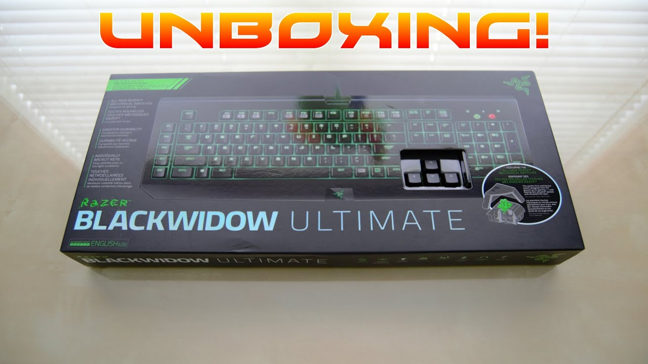 Unboxing Razer Keyboard Blackwidow T2 2014 Ultimate Faq