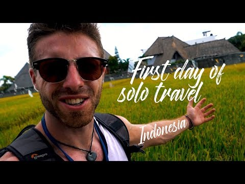 FIRST DAY OF SOLO TRAVEL IN INDONESIA