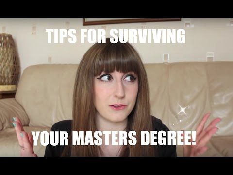 Top Tips for Surviving Your Masters Degree!