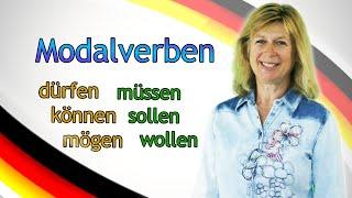 Deutsch lernen #7 Modalverben (dürfen, können, mögen, müssen, sollen, wollen) thumbnail