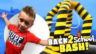 Video Little Flash Back to School Bash!!! (Giant Inflatable Wrecking Ball Challenge!) download MP3, 3GP, MP4, WEBM, AVI, FLV Agustus 2018
