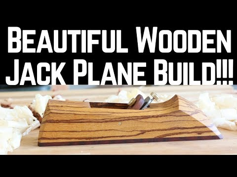 Most Beautiful Wooden Hand Plane Ever!!!   How To | Woodworking