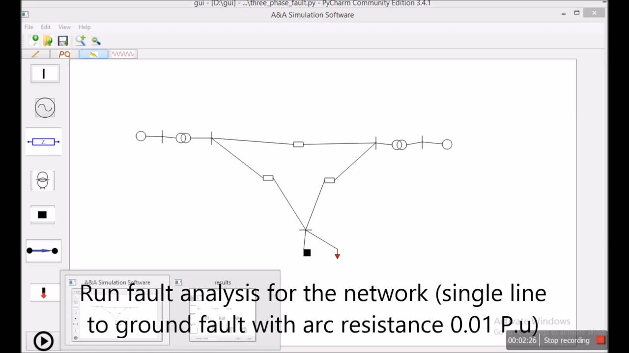 Power Grid Simulation Software Fault Analysis Module Youtube Single Line Electrical Diagram