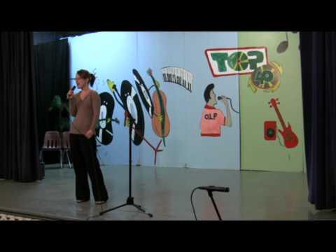 Talent show 2011 Erin Pearce